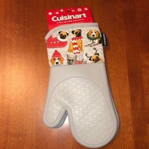 Cuisinart Silicone Grey Christmas Dogs Oven Mitts